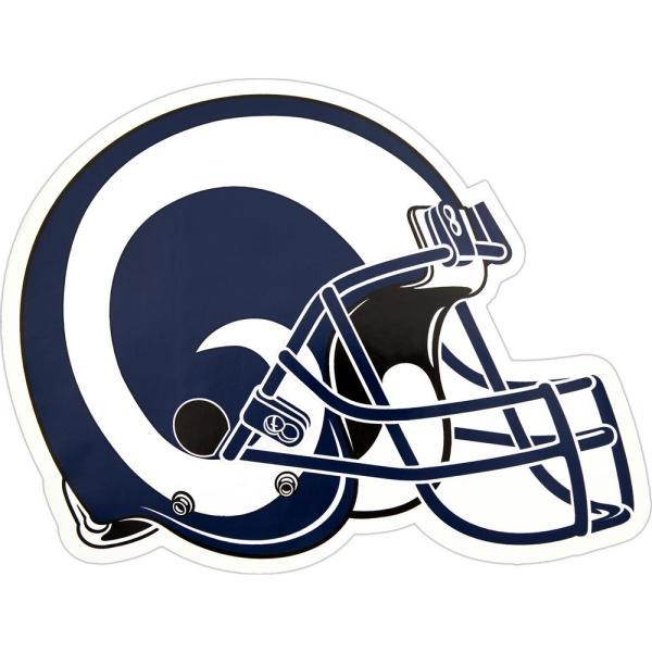 NFL Los Angeles Rams Outdoor Helmet Graphic.