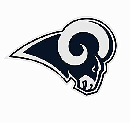 Amazon.com: Los Angeles LA Rams NFL Football Color Logo.