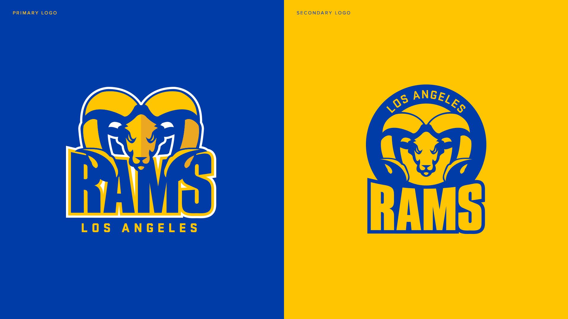 LA Rams Logo Redesign : LosAngelesRams.