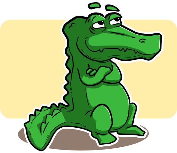 cartoon crocodile clip art.
