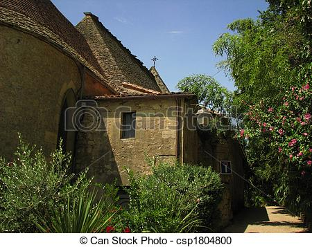 Stock Photography of Church La Roque Gageac.