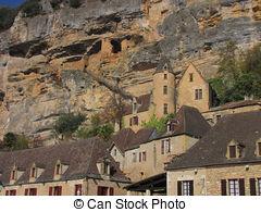 Stock Image of Village, Castle, La.