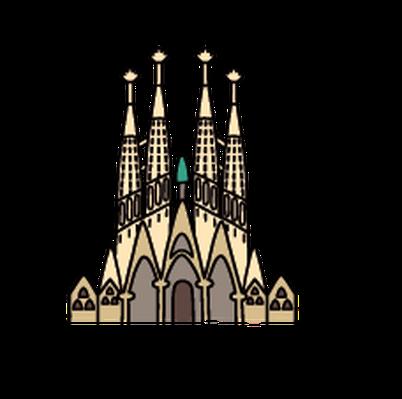 Sagrada Familia Church Clip Art.
