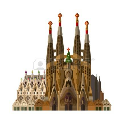 217 Sagrada Familia Stock Vector Illustration And Royalty Free.