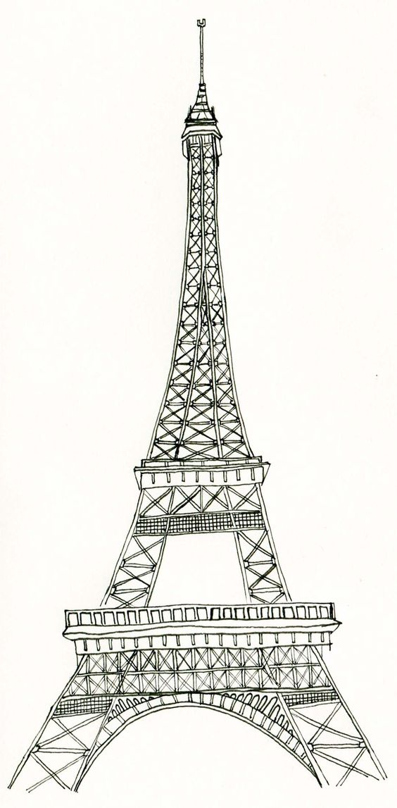 Umbrella Clipart Black And White La tour eiffel clipart...