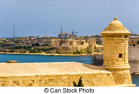 Pictures of Aerial view of Grand Harbour port, La Valletta.