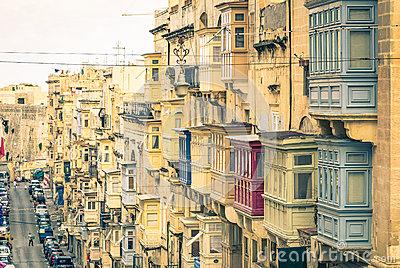 Valletta Skyline, Malta Stock Photo.