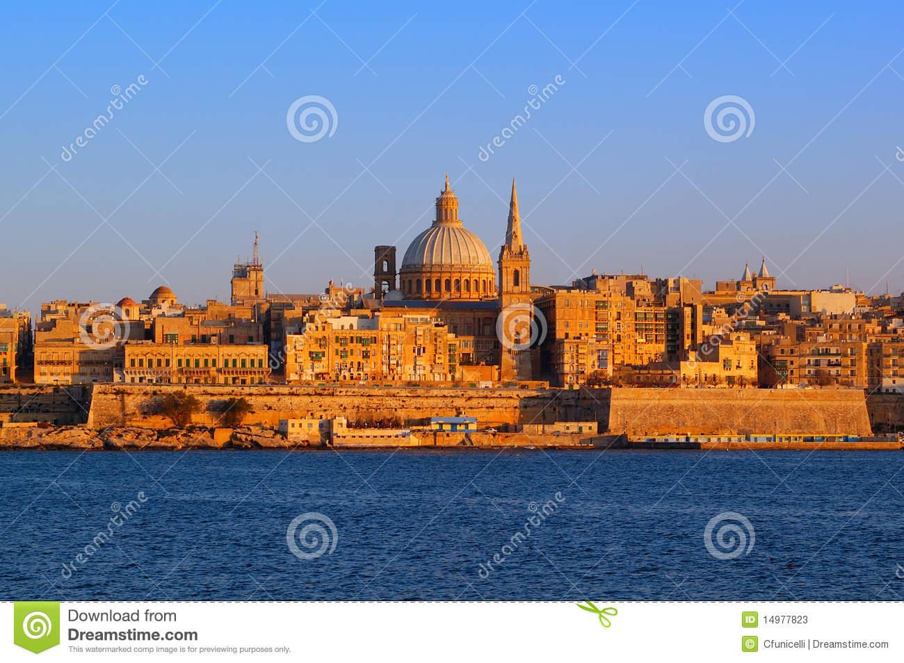 Malta La Valetta Stock Photos.