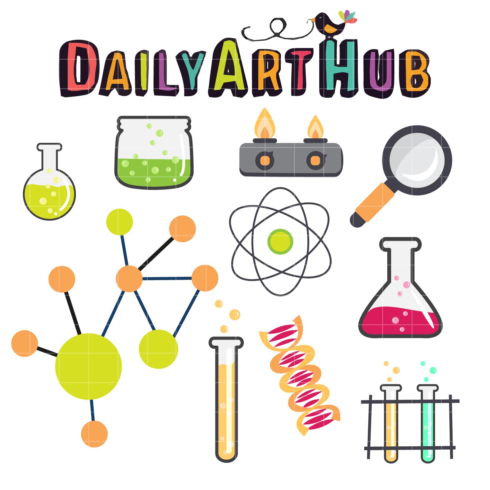 Science Lab Clip Art Set.