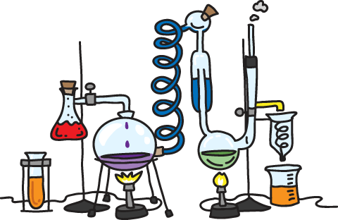 Chemistry lab equipment clipart clipart images gallery for free.