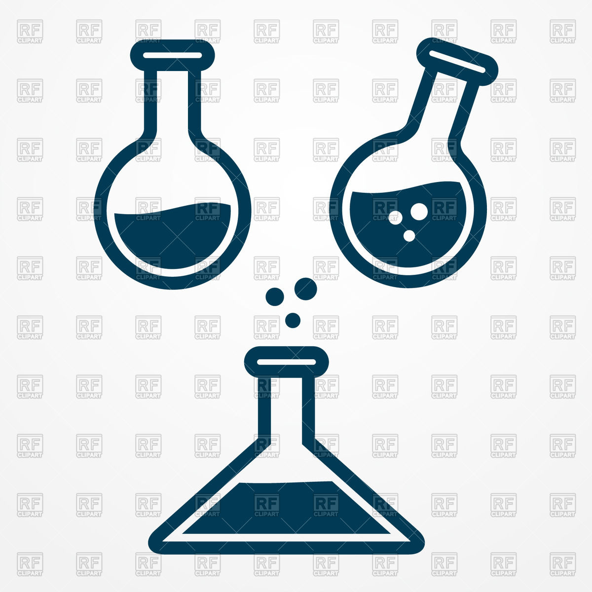 Test tube and flask icon.