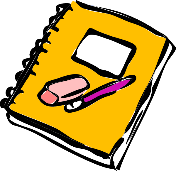 Showing post & media for Cartoon notebook clipart.