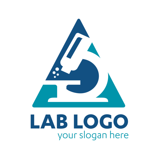 Science Lab logo template, university, universe, microscope, doctor.