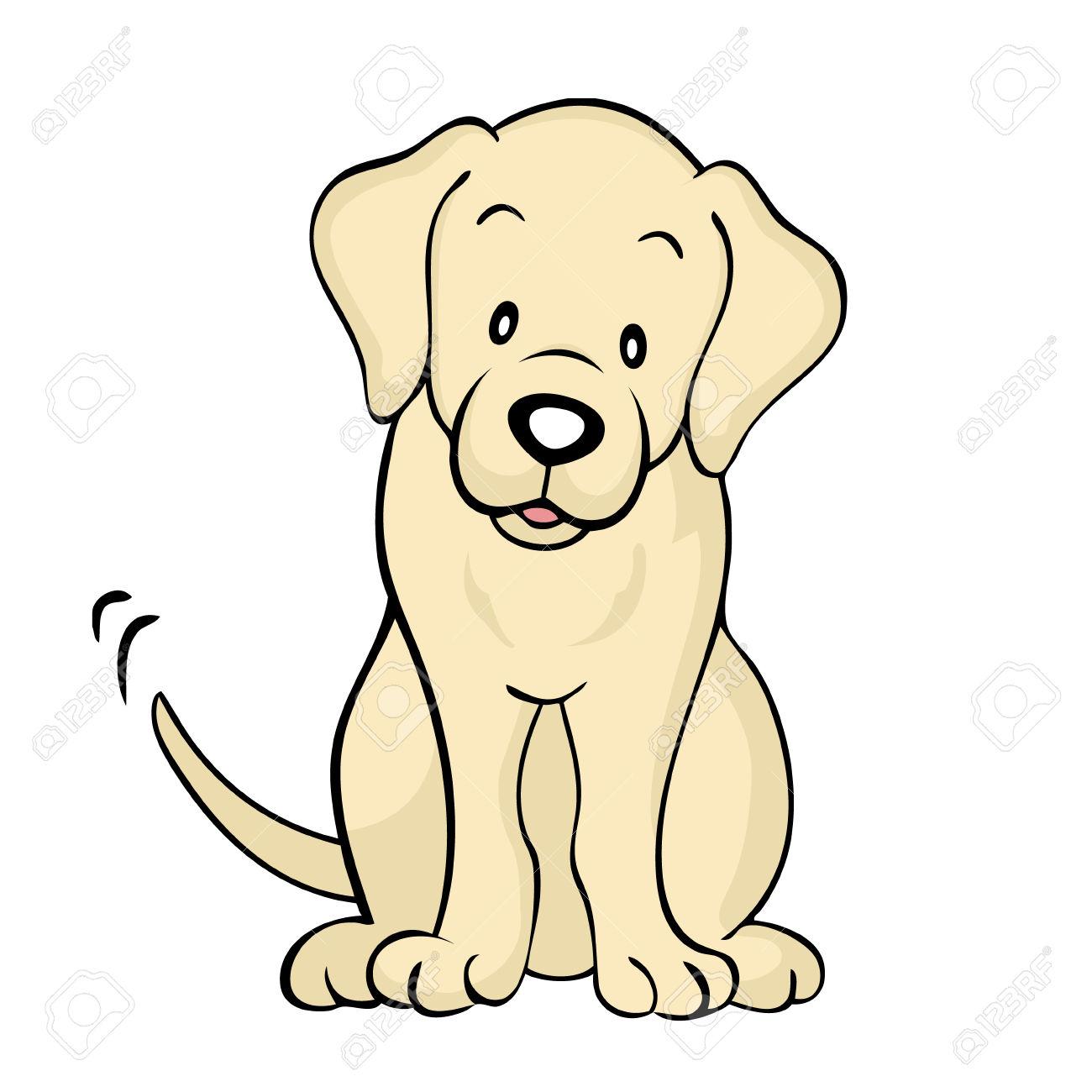 Labrador puppy clipart.