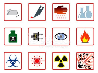 Laboratory Safety Symbols Clipart Image.