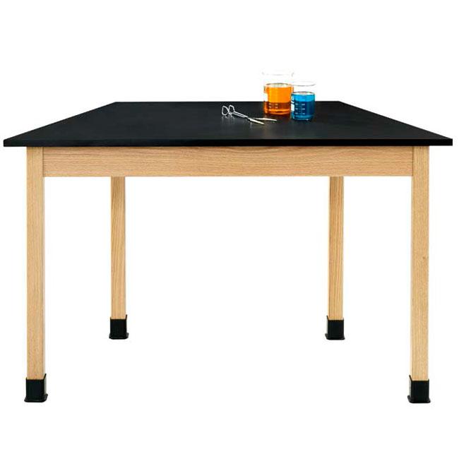 Hardwood Science Lab Table.