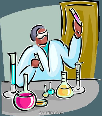 lab technician Royalty Free Vector Clip Art illustration.