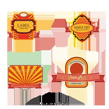 Label Design PNG Images.