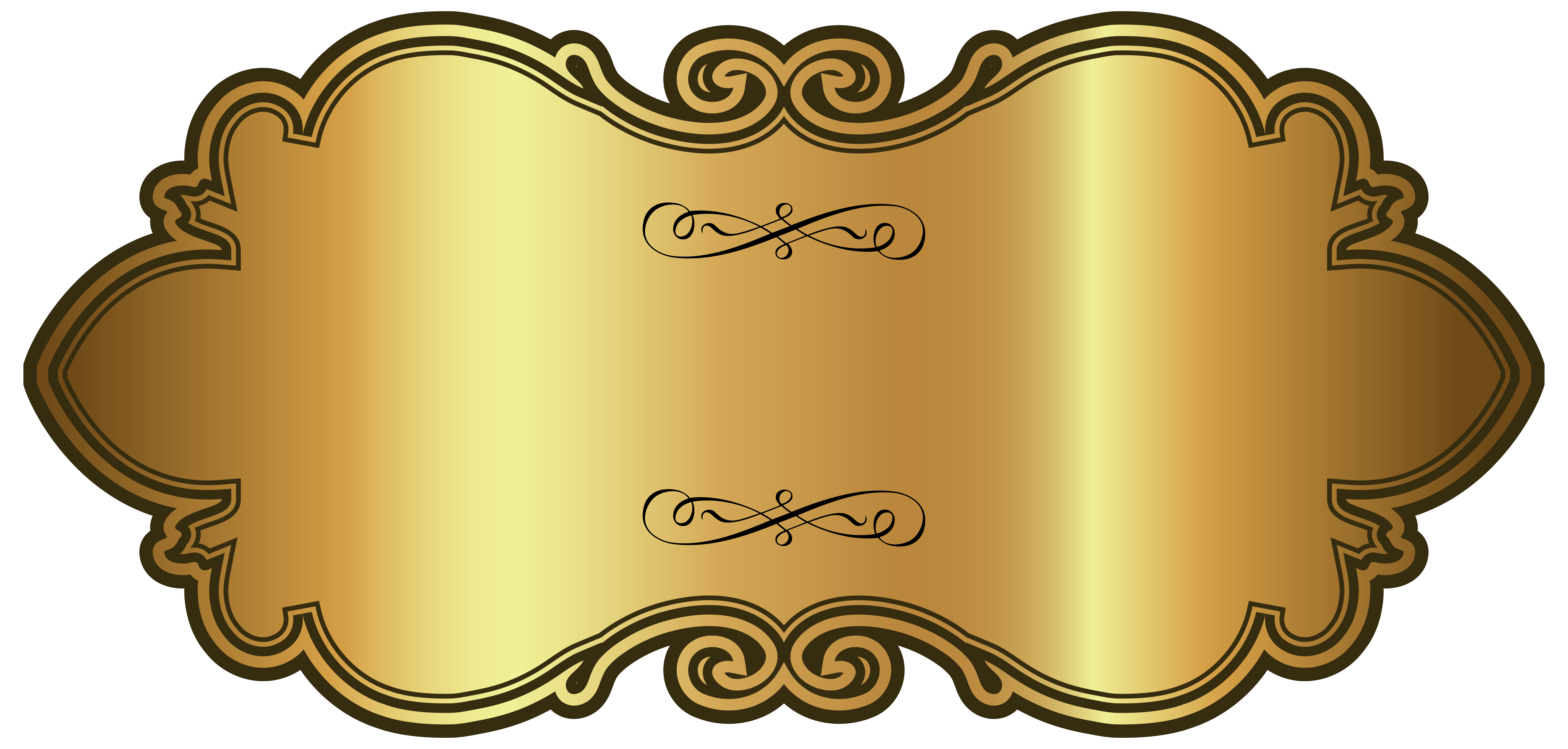 Golden Luxury Label Template PNG Clipart Image.