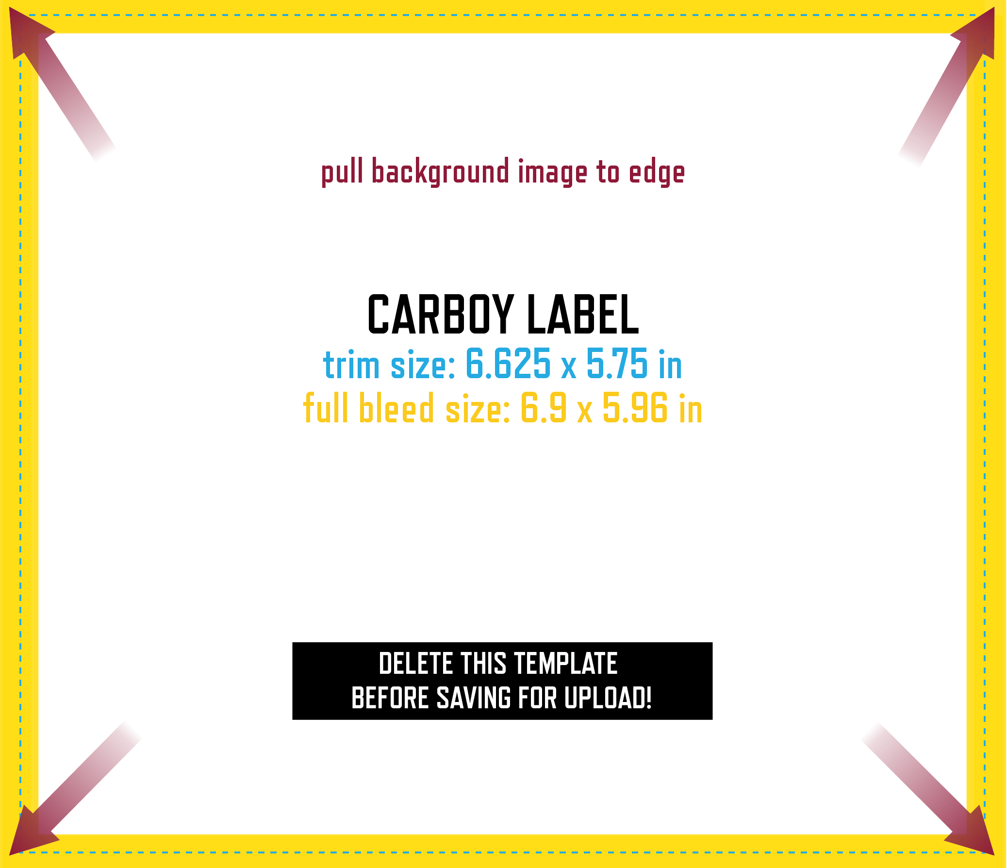 Keg & Carboy Label Design Template.