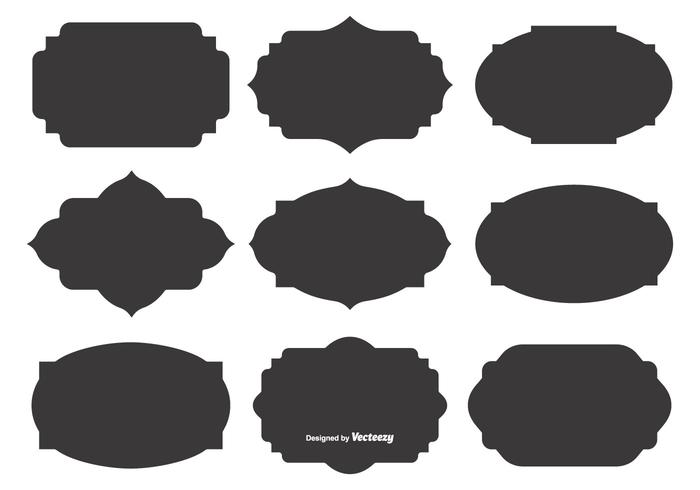 Blank Vector Label Shapes.