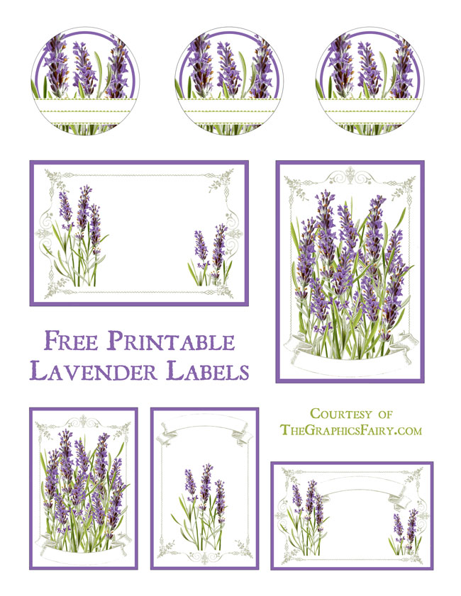 Lavender Labels Printable.