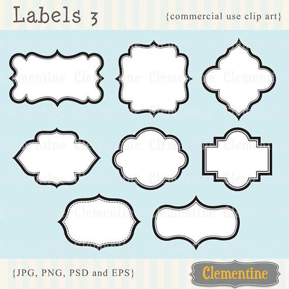 Labels clip art.