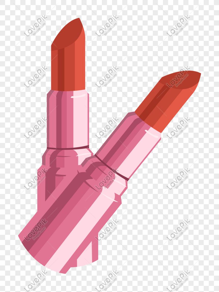 bonita ilustración de lápiz labial naranja Imagen Descargar_PRF.