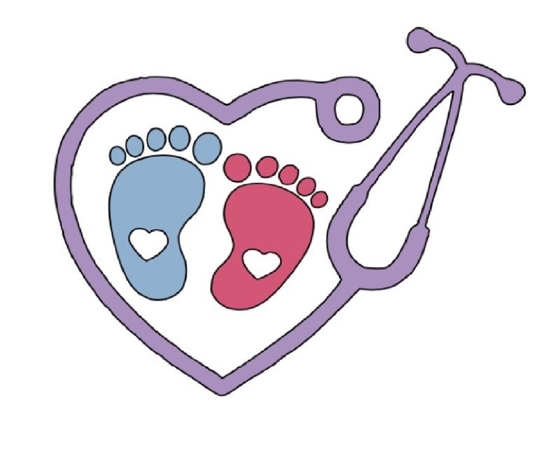 Nurse Decal, Labor and Delivery Nurse decal, labor and delivery, NICU nurse  decal, RN, baby feet decal, stethoscope decal, nurse week gift.