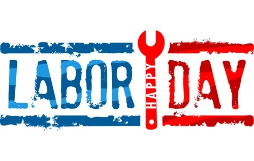 Labor Day Banner Clipart.