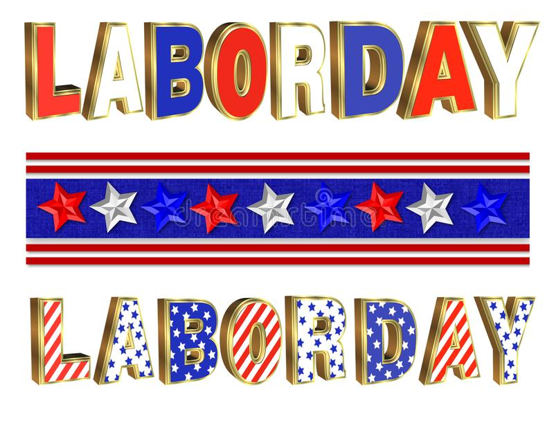 Labor Day Border Stock Illustrations.