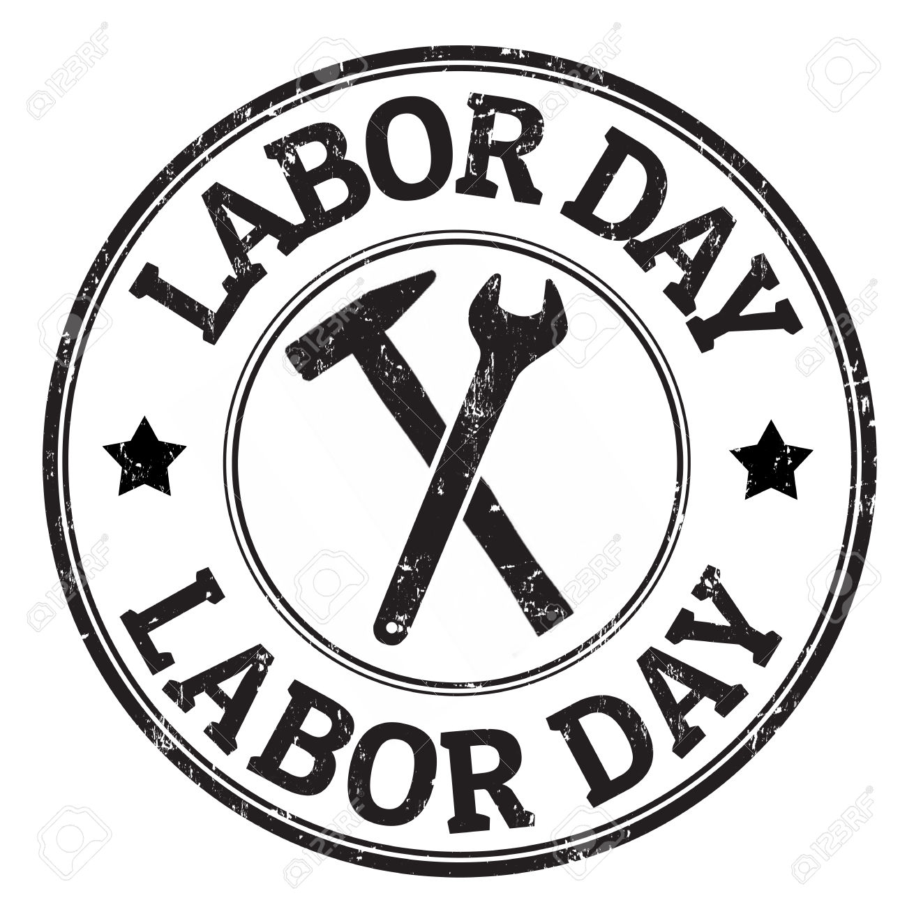 black and white clip art labor day for your inspiration.