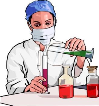Chemistry laboratory clipart.