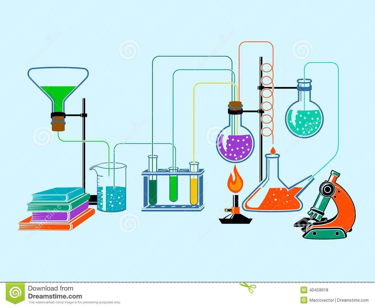 Physics lab equipment clipart.