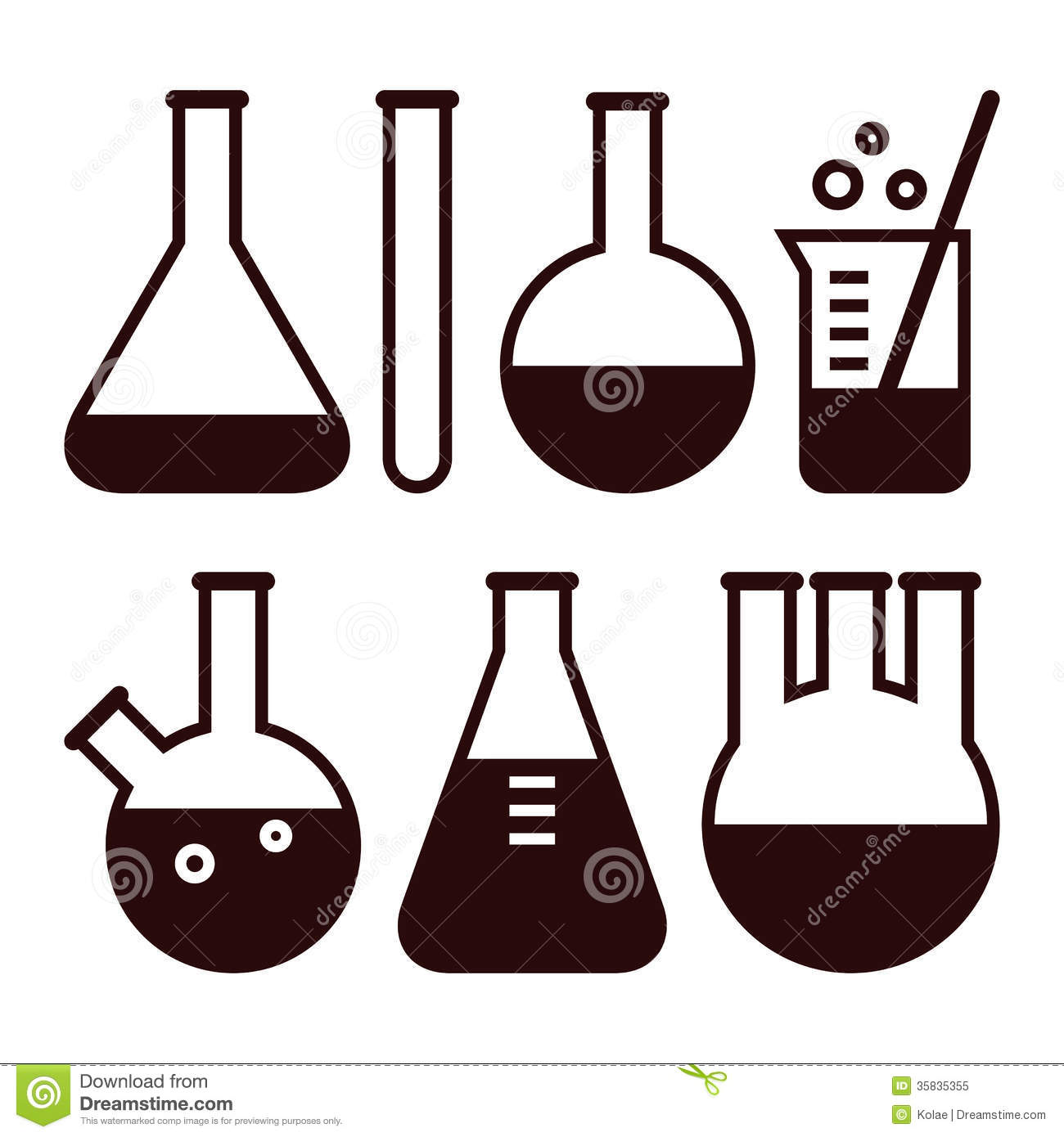 Lab equipment clipart.