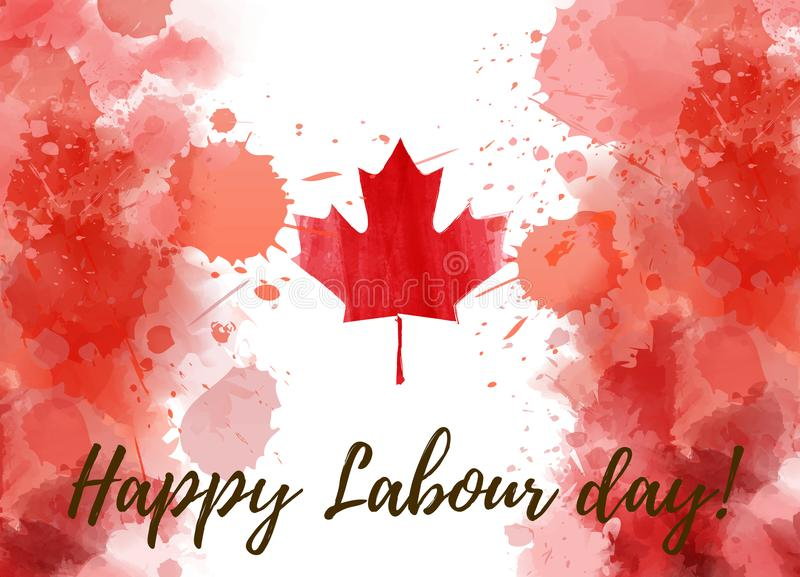 Canada Happy Labour Day Stock Illustrations.