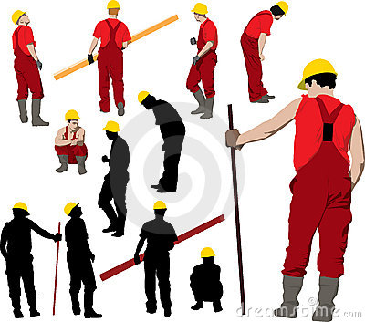 Construction Workers Stock Photography.