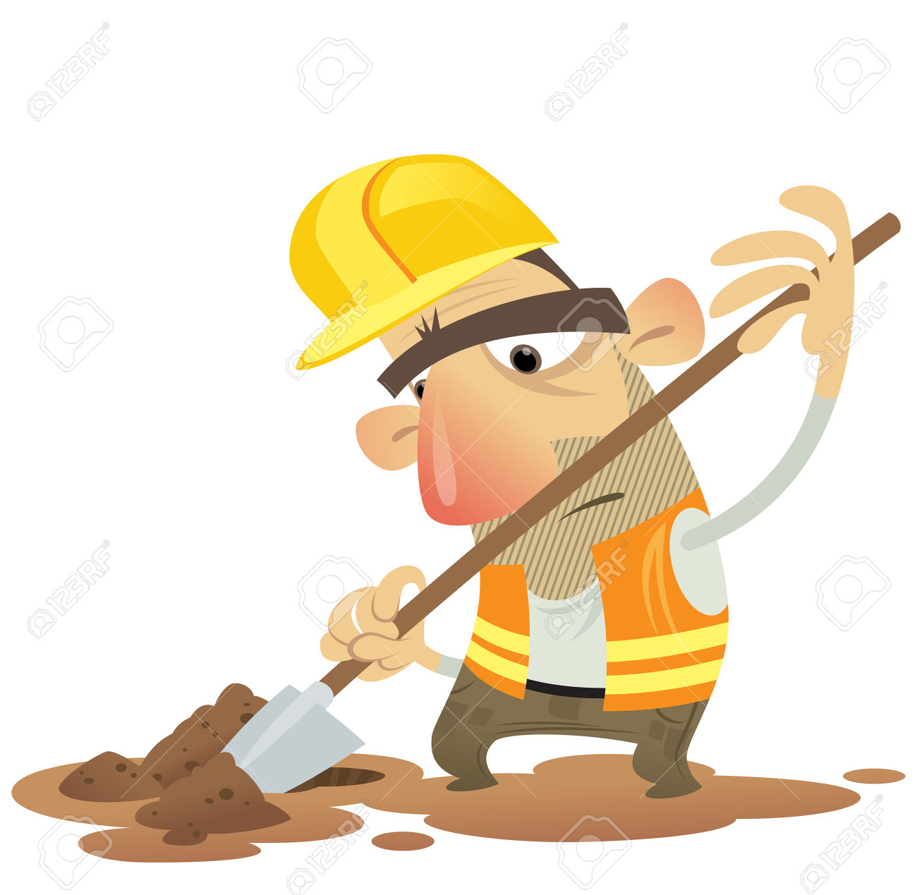Man With Shovel Clipart.