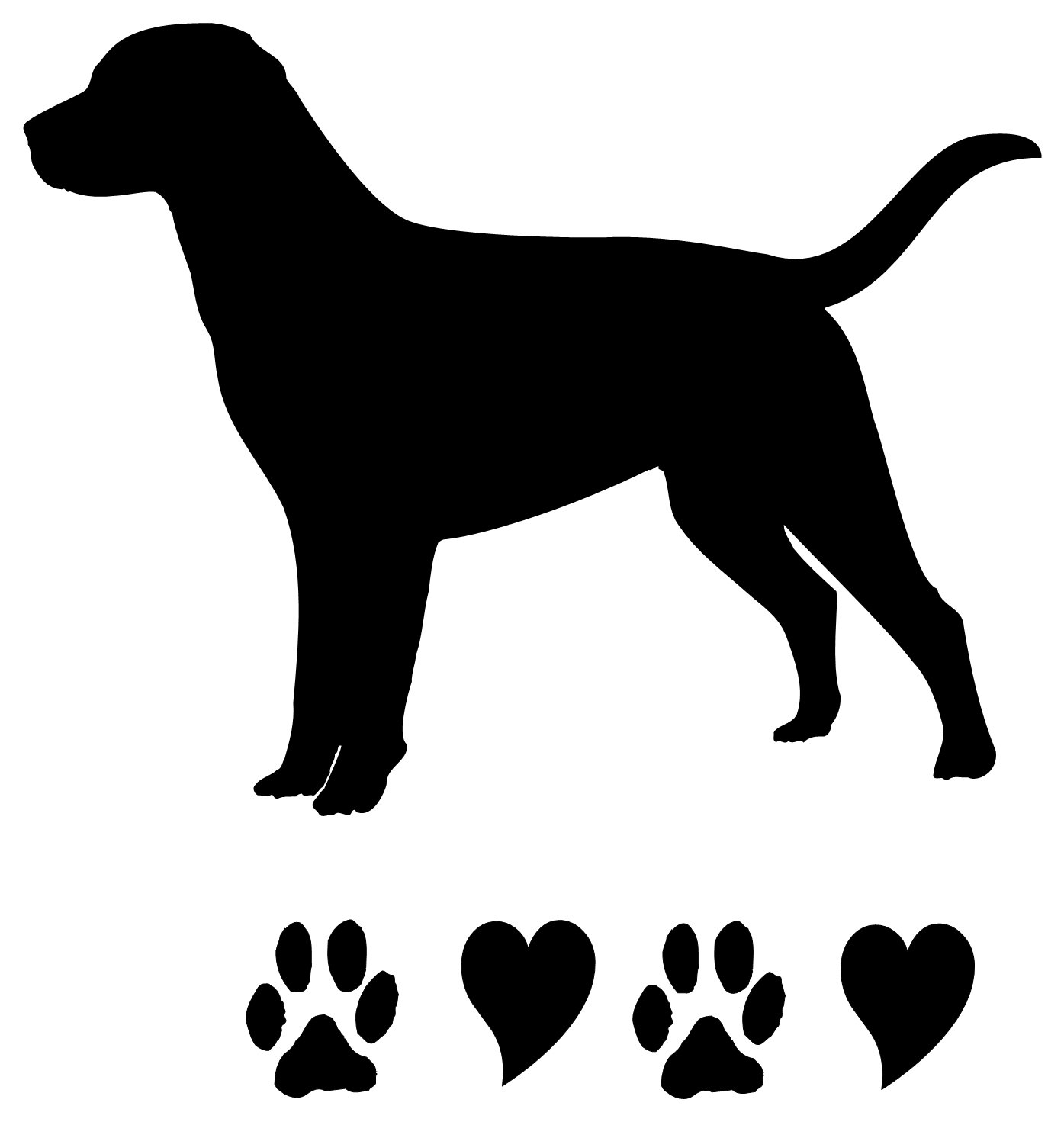 Lab Silhouette Clipart.