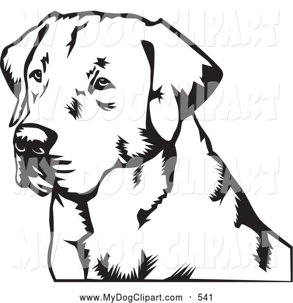 Clip Art of a Friendly Labrador Retriever Dog by David Rey.
