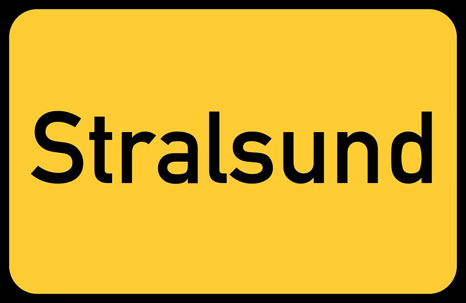 Gratis vektorgrafik: Stralsund, Mecklenburg.