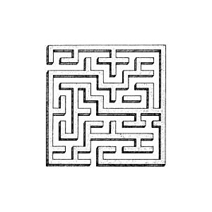 labyrinth, from buildings page, public domain clip art image.