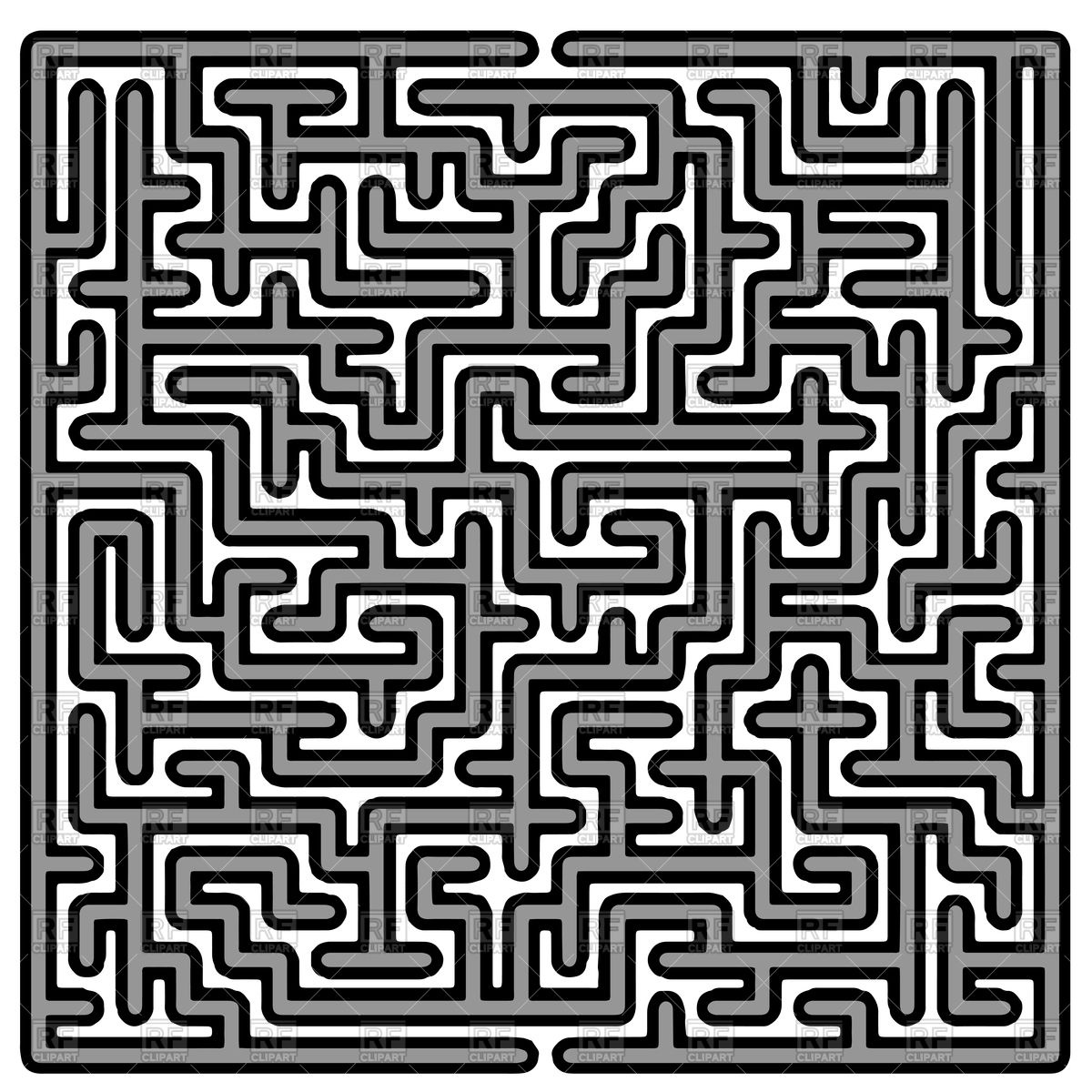 Labyrinth on white background Vector Image #94764.