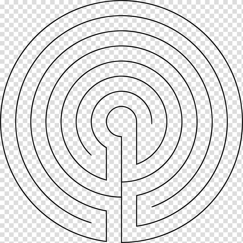 Maze Concentric objects Drawing, labyrinth transparent background.
