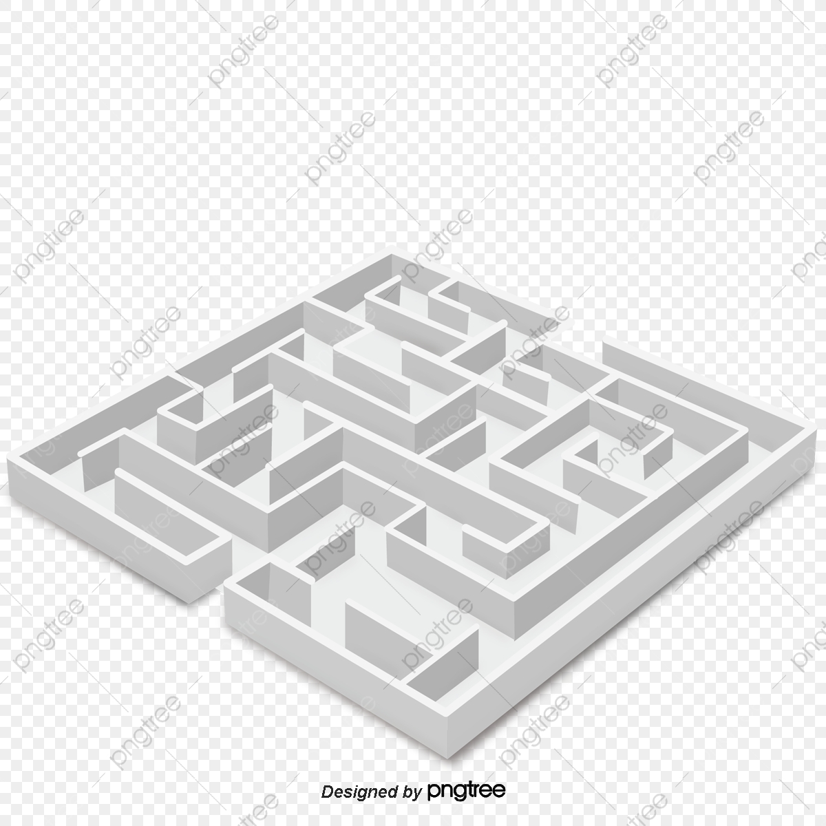 Labyrinth Vector Material, Maze, Gray, Background Decoration PNG and.