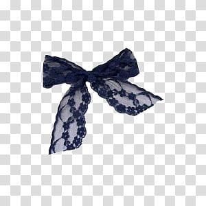 Feeling blue, black lace bow transparent background PNG.