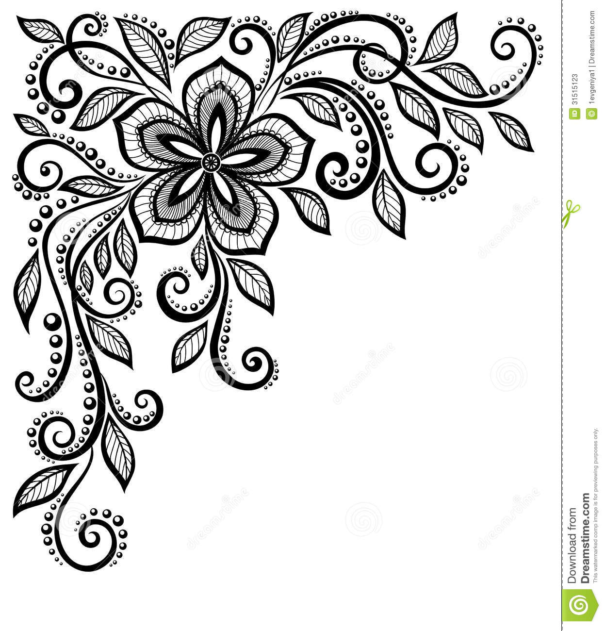 Flower Lace Clipart.