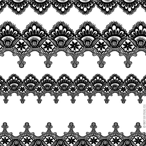Clip Art Digital Lace Borders Clipart Vector Lace Instant Download.