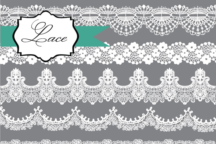 Lace Borders Clipart.