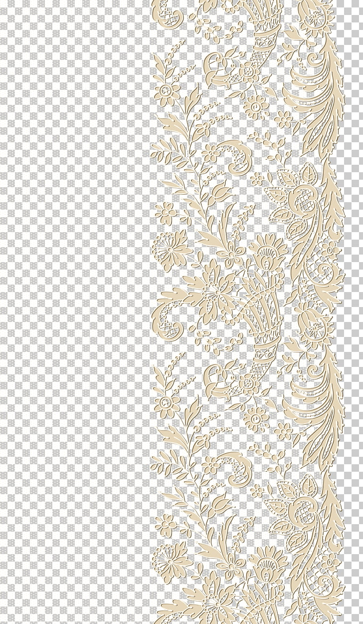 Lace , Lace Transparent , beige lace artwork PNG clipart.